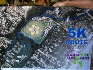 Barefoot Fun Run Course Map