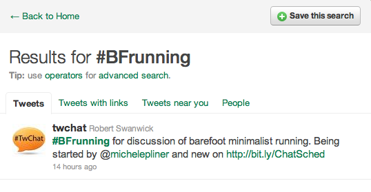 BFrunning Twitter Search
