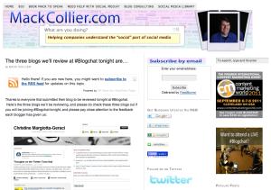 Mack Collier Blog Announcement
