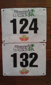Harveys 5k Race Bibs