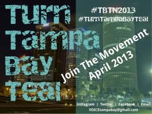Tampa #TurnTampaBayTeal
