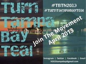 Clearwater #TurnTampaBayTeal