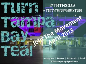 St Pete #TurnTampaBayTeal